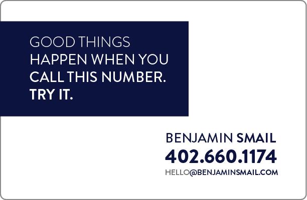 benjamin smail contact 402-660-1174